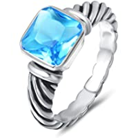 UNY Ring Antique Twisted Cable Wire Femme Designer Inspired Fashion Brand David Women Jewelry Gifts