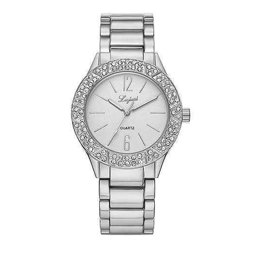 Reloj de pulsera para mujer, de la marca Domybest, de acero inoxidable, con