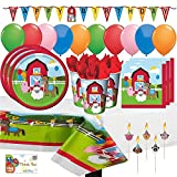 Best Funs For Parties - Farm House Fun Barnyard Animals Birthday Party Supply Review