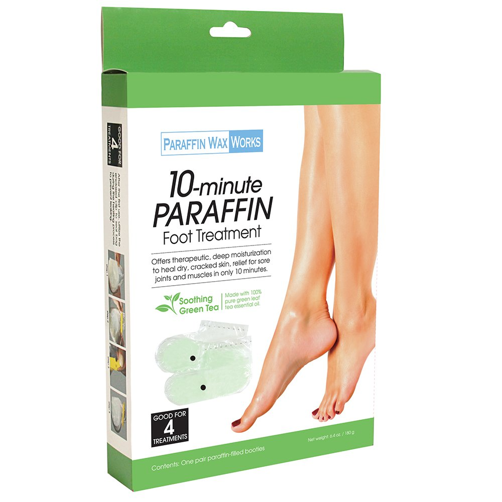Paraffin Wax Works Green Tea Foot Treatment, 1 Pair by Paraffin Wax Works (Image #2)