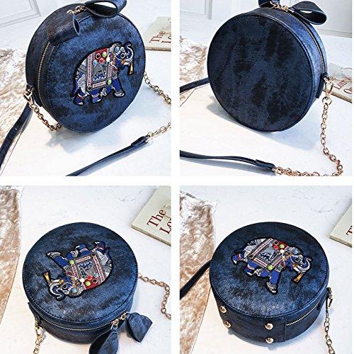 Moda Elefante Spalla Gaoqq Singolo Di Crossbody Rotondo Sacchetto Femmina Blu Piccolo qwx77p