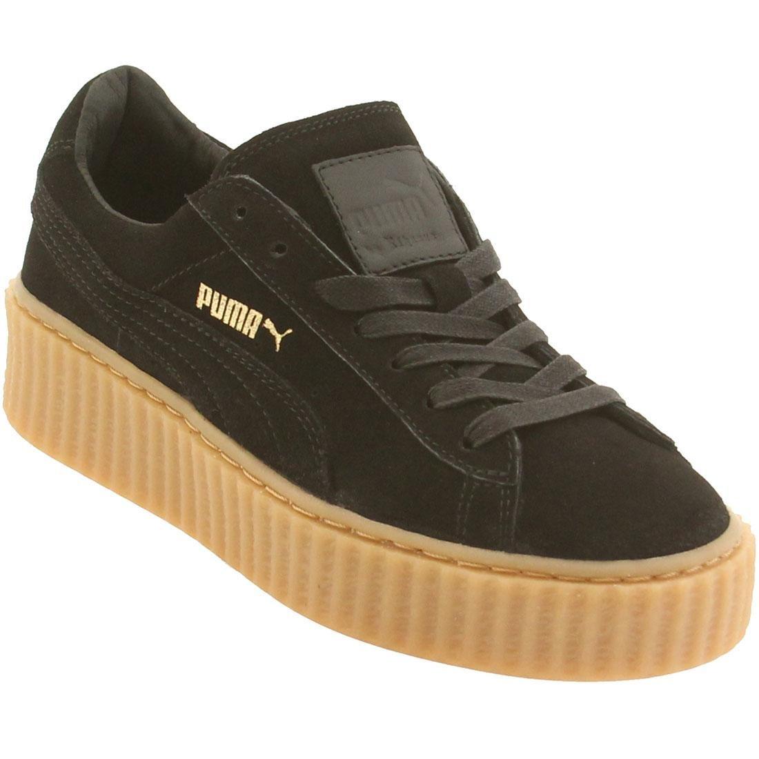PUMA Women's x Rihanna Creeper Sneakers B0126JWRDA 7.5 B(M) US|Black / Oatmeal