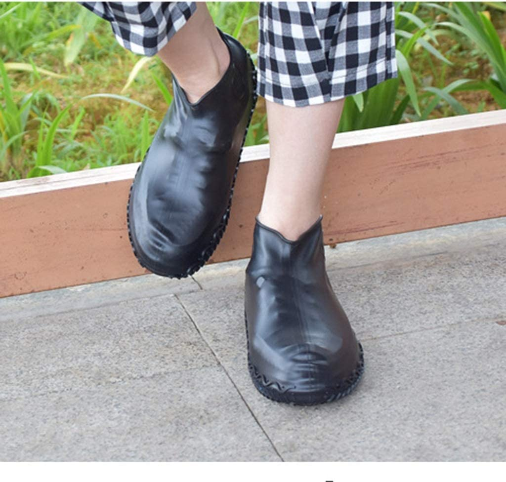 JERPOZ Silikon Regen Stiefel Wasserdicht Überschuhe