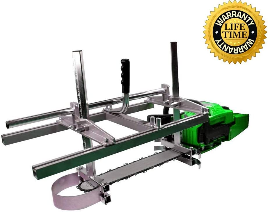"""chainsaw mill Portable Chainsaw mill 36"""" Inch 304 stainless steel and Aluminum Planking Milling Bar Size Cutting Milling"""