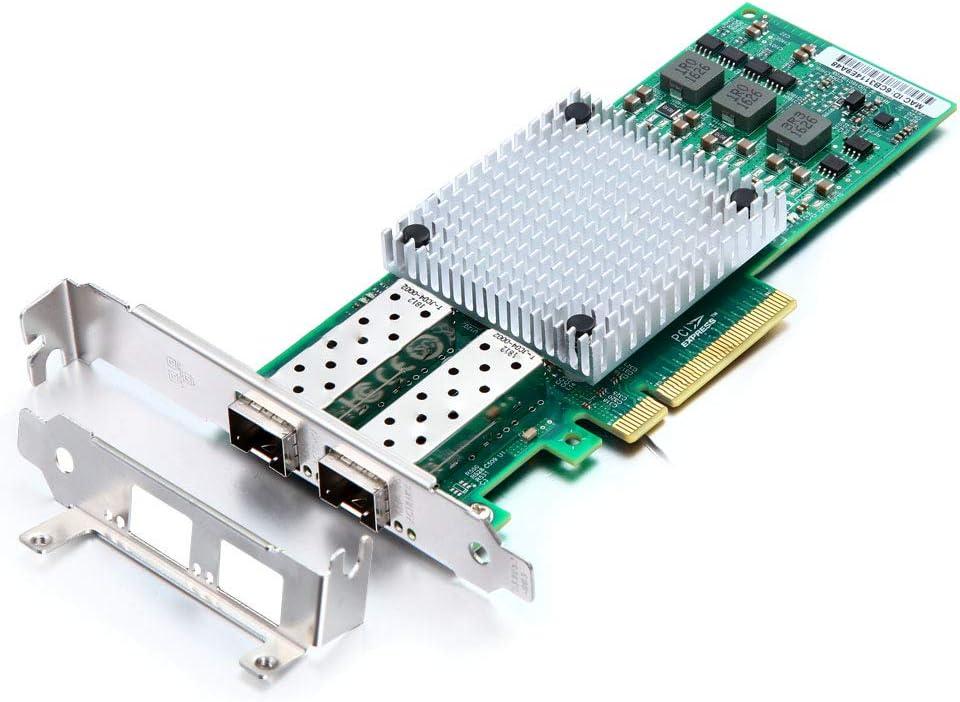 10Gb Ethernet Network Adapter Card- for Broadcom BCM57810S Controller Network Interface Card (NIC) PCI Express X8, Dual SFP+ Port Fiber Server Adapter
