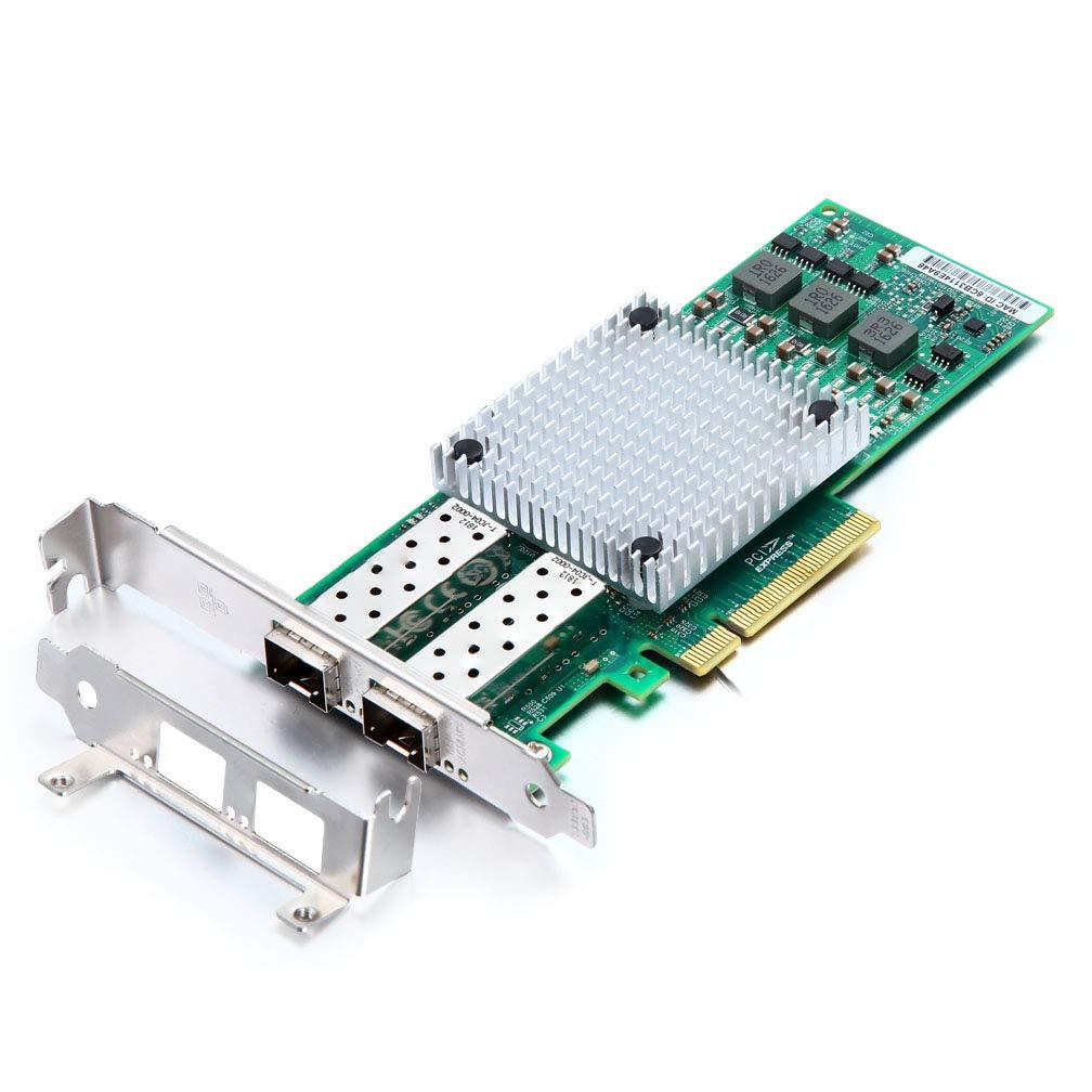 10Gb Ethernet Network Adapter Card- for Broadcom BCM57810S Controller Network Interface Card (NIC) PCI Express X8, Dual SFP+ Port Fiber Server Adapter by H!Fiber.com