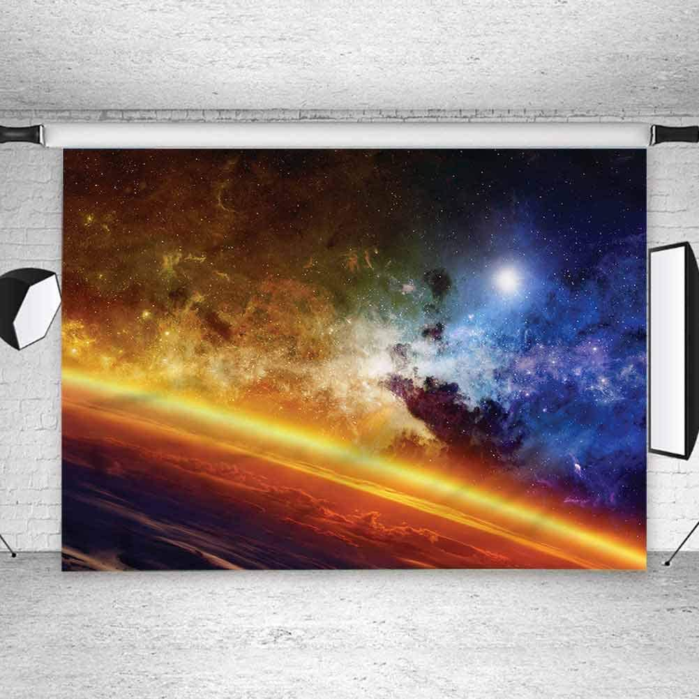 6x6FT Vinyl Wall Photography Backdrop,Outer Space,Colorful Planet Nebula Background for Party Home Decor Outdoorsy Theme Shoot Props