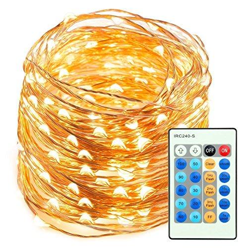 LED String Lights, 66ft 200LED Remote St...