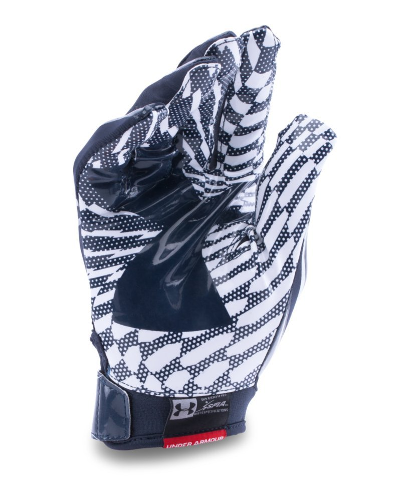 Under Armour Men's F5 Football Gloves, Midnight Navy/White, Small by Under Armour (Image #2)