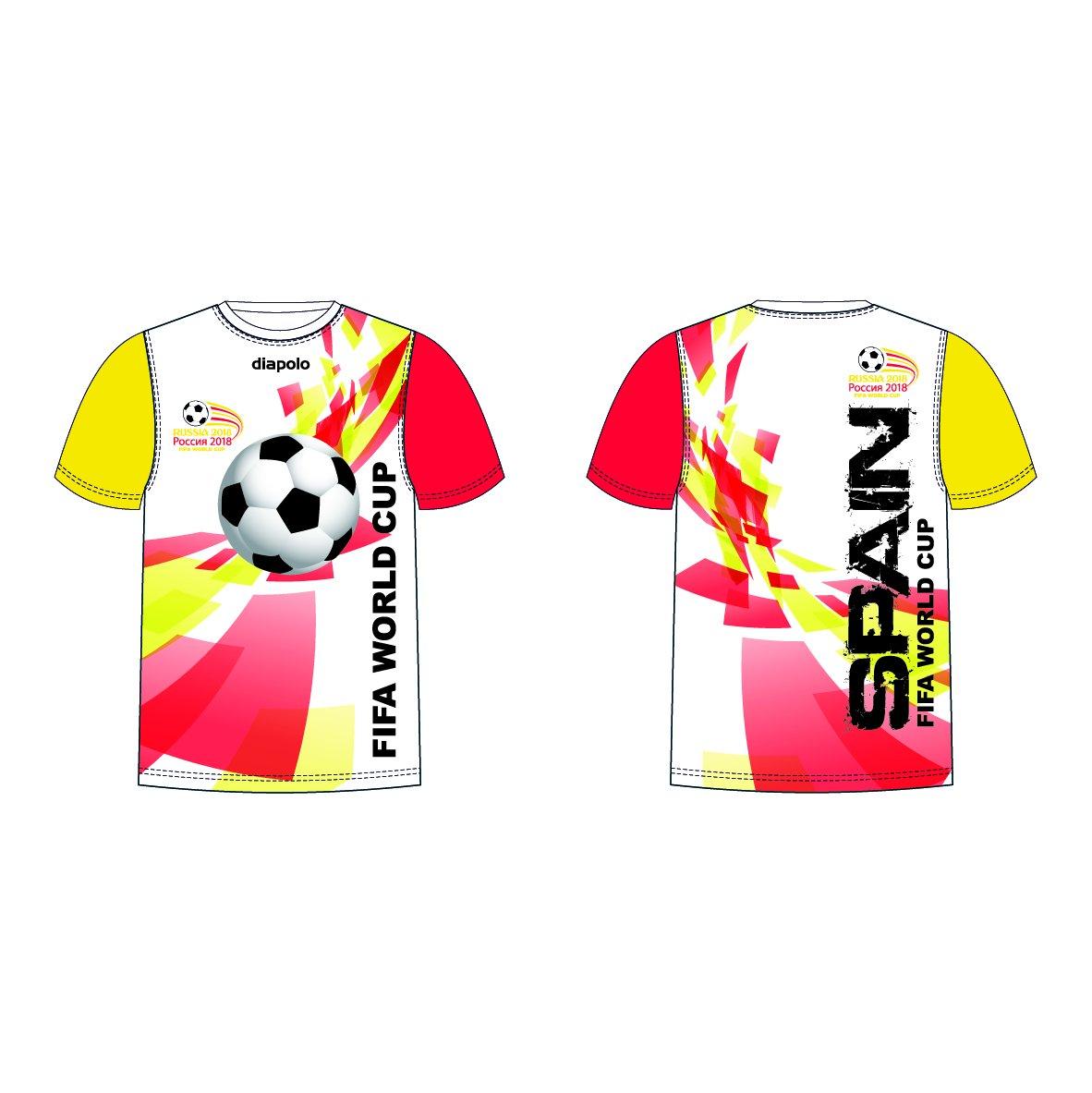Diapolo Professional Atmungsaktiv Qualitativ Hochfertiger Funktion Fan T-Shirt Spain S M L XL XXL