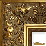 Craig Frames 11x17-Inch Picture Frame, Ornate Finish, 3.5-Inch Wide, Weathered Gold (9472)