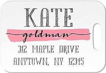 3b6793e59ddf Amazon.com | Personalized Luggage Tag (Scribble Name) | Luggage Tags