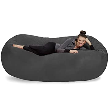 Charmant Sofa Sack   Plush Bean Bag Sofas With Super Soft Microsuede Cover   XL Memory  Foam
