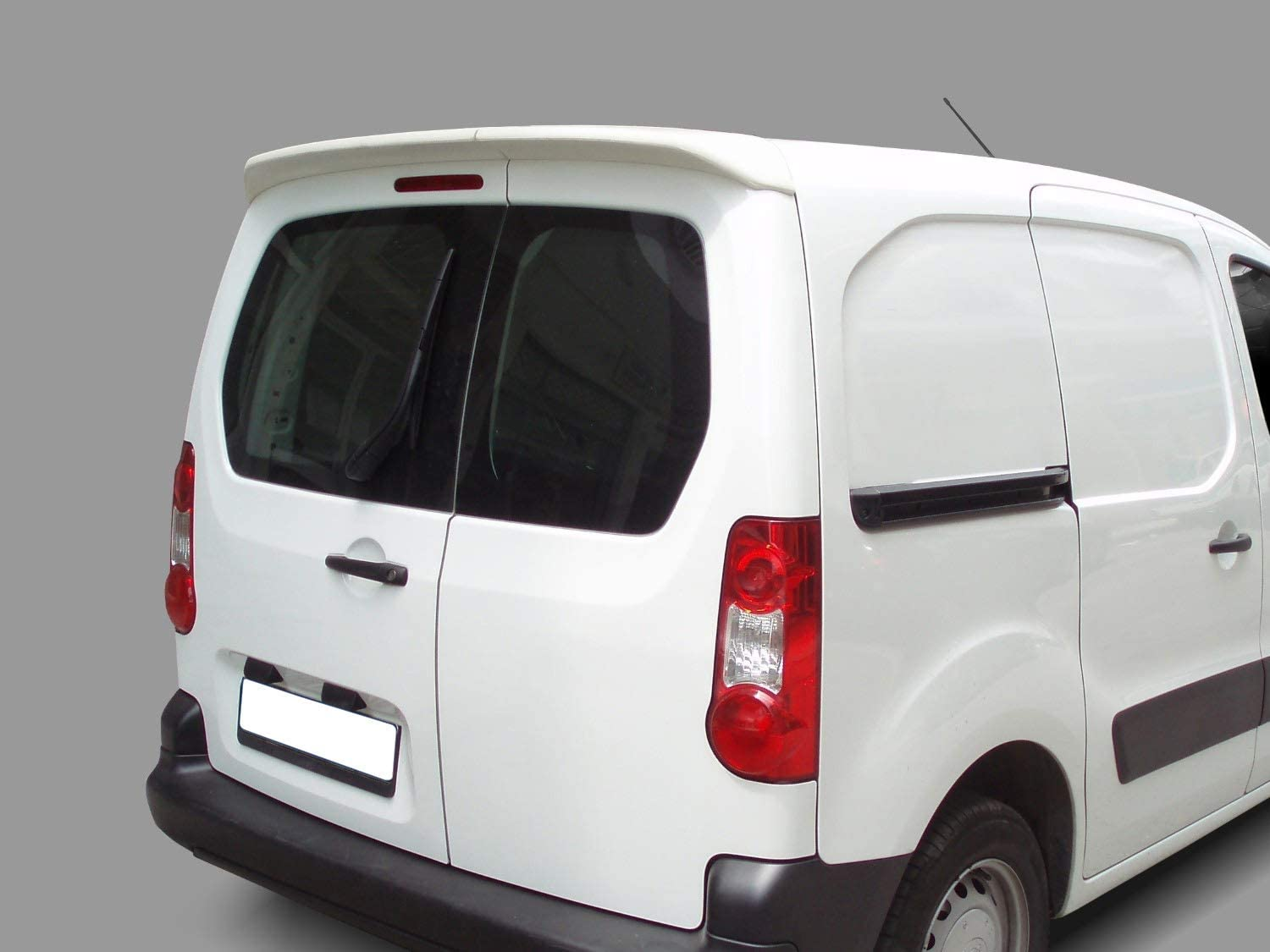 No Drilling Required Compatible With Berlingo and Partner 2008 On TVA Styling PU Rear Roof Twin Door Spoiler