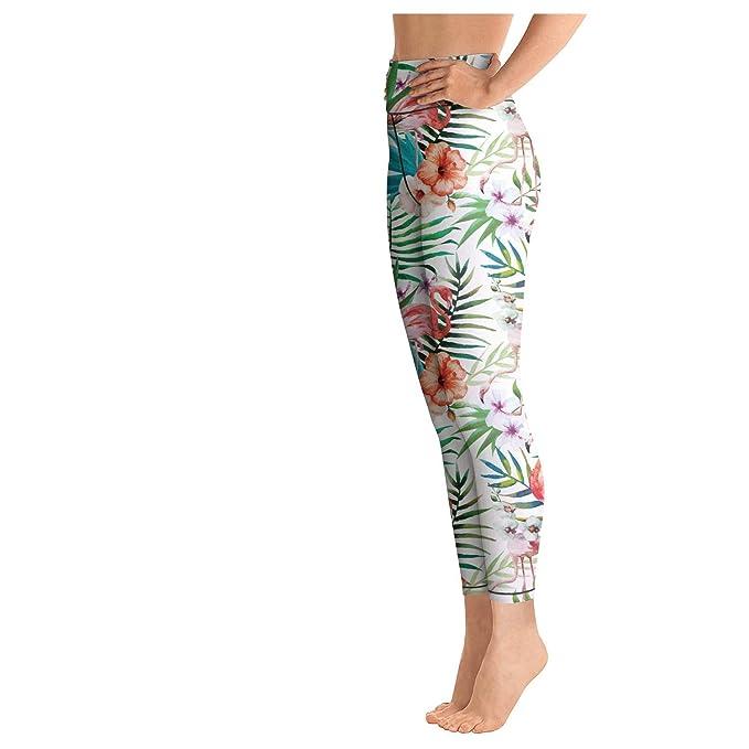 6b831149ce996 Amazon.com: PLOKINC Camo Yoga Pants for Womens Capri Leggings Pink Flamingo  Clipart Pockets and Tummy Control Tights: Clothing