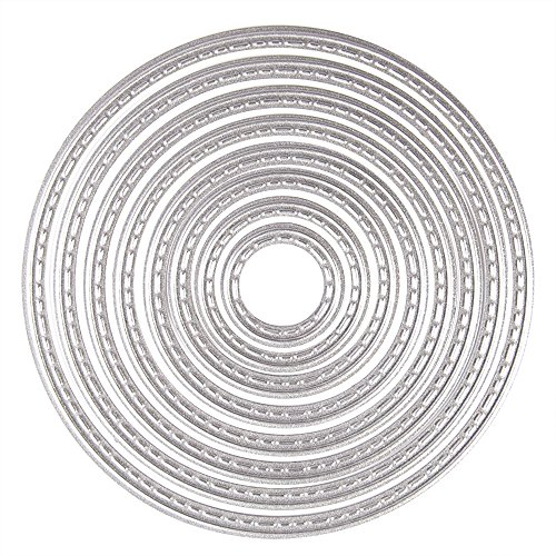 KUUQA Cutting Dies Stencil Metal Template Mould - Circles(8 pcs)