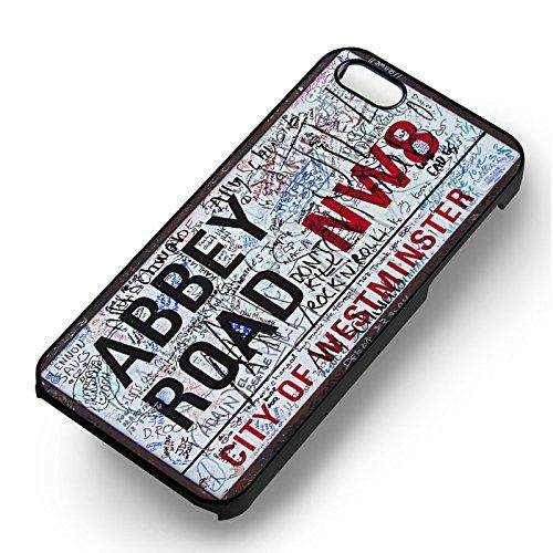 Abbey Road Street Sign pour Coque Iphone 6 et Coque Iphone 6s Case (Noir Boîtier en plastique dur) V3D5GS