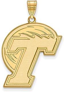 Lex & Lu Logoart argento Sterling W/GP Tulane University XL ciondolo
