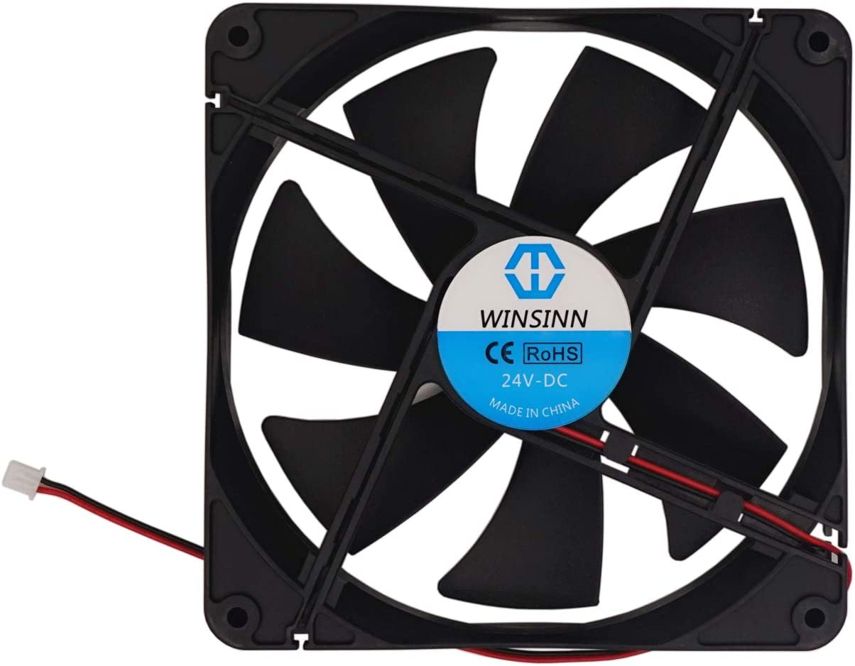 WINSINN 140mm Fan 24V Brushless 14025 120x25mm for Cooling PC Computer Case CPU Coolers Radiators - 2Pin