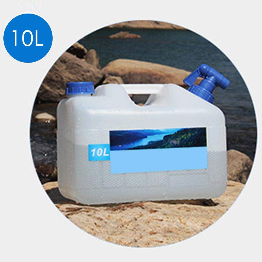 miniflower Portable Water Bucket 10L/15L/18L/23L PE Self-Driving Water Container with Faucet for Household BBQ Camping Hiking Climbing