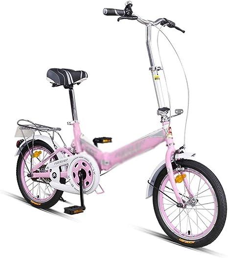 Bicicletas Plegable Portátiles De 16 Pulgadas Estudiantes Niña Carretera (Color : Pink, Size : 16 Inches): Amazon.es: Deportes y aire libre