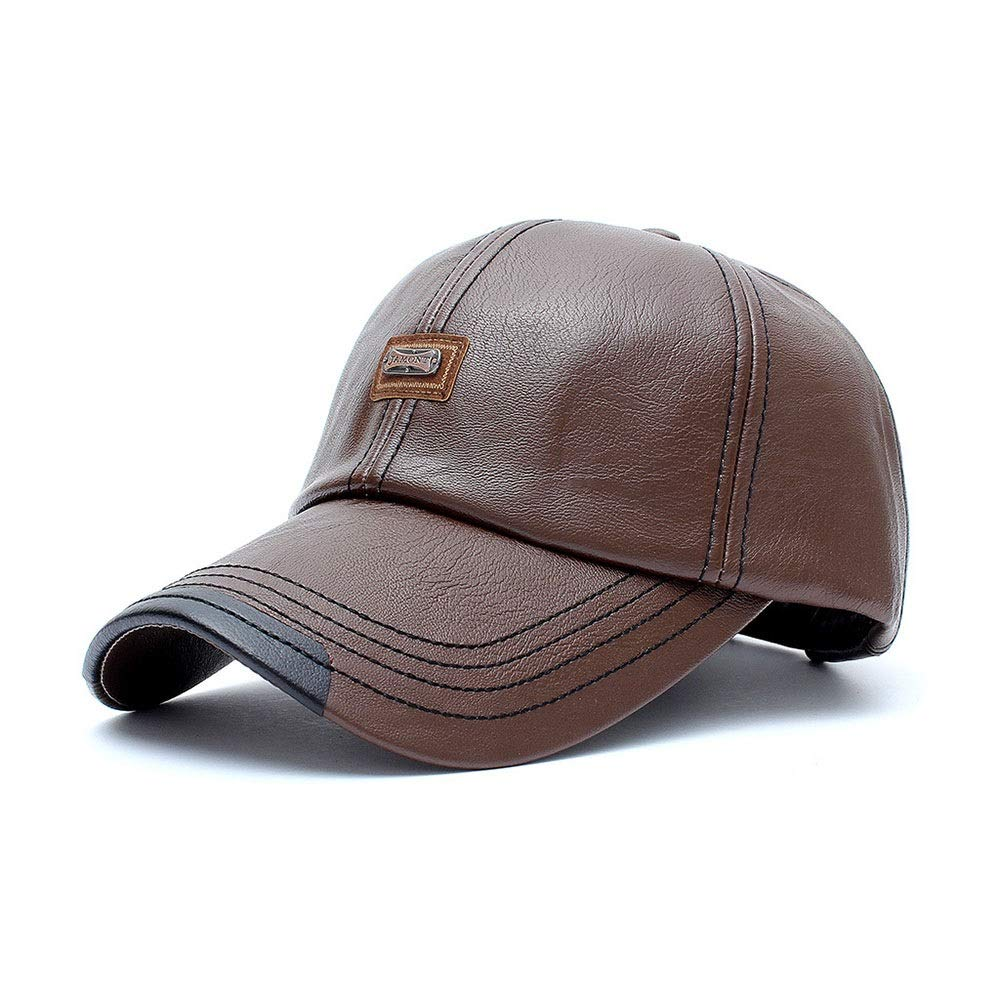 d99e5b077f6982 Coffee Baseball Cap for Men Men Men Classic Leather Djustable Dad Hat  (color Coffee) 18a7ad