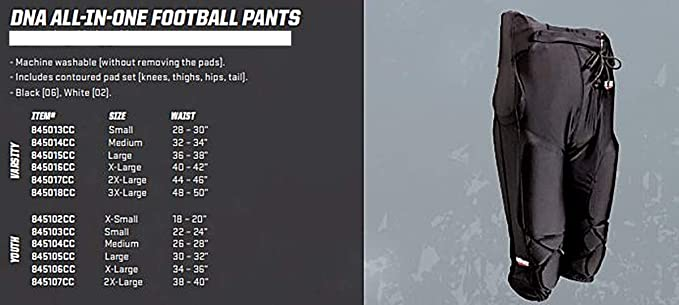 Schutt Sports DNA All-in-One Youth Football Pants Integrated Pads