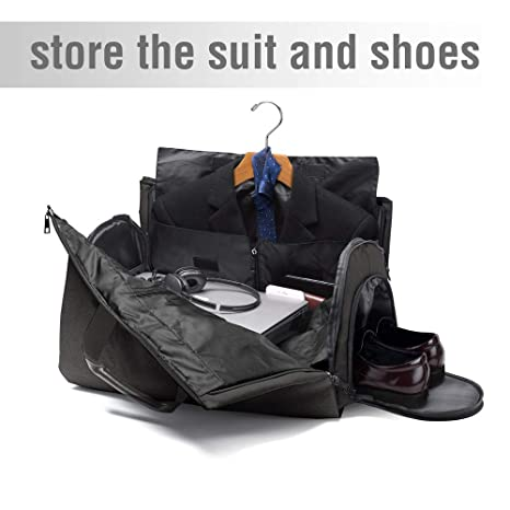 Suit Travel Bag Garment Bag with Shoulder Strap 2 in 1 Hanging Suit Travel  Bags for Men Duffle Garment Bags Carry on Suit Carrier Travel Bag Foldable  Flight ... b4c94708072b0