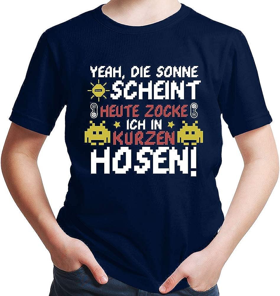 HARIZ  Jungen T-Shirt Zocken In Kurzen Hosen Gamer Gaming Plus Geschenkkarte