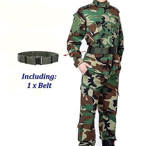 ATAIRSOFT Hombres Tactical BDU Combat Uniform Jacket Shirt ...