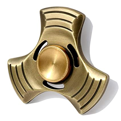 Premium  Gold Tri Spinner Fidget Toy High Speed Metal Ceramic Bearing Spins up