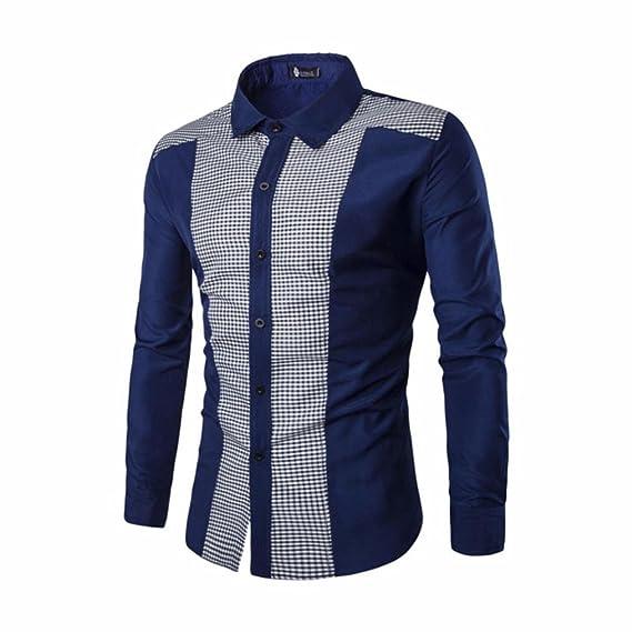 Sannysis Camisa De Blusa De Hombre Botones De Tela De Lino De AlgodóN para Hombres Hombre Estar Cuello De Manga Larga Camisas De Lino Blusas Tops Moda: ...