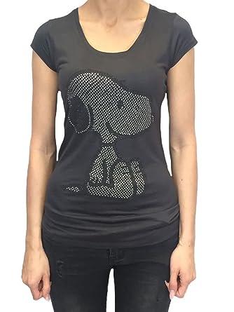 Sublevel Peanuts Damen Shirt Top mit Snoopy Applikationen dunkelgrau Farbe  grau, Größe L