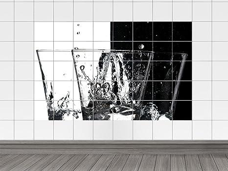 Piastrelle adesivo piastrelle immagine bicchierini con ghiaccio