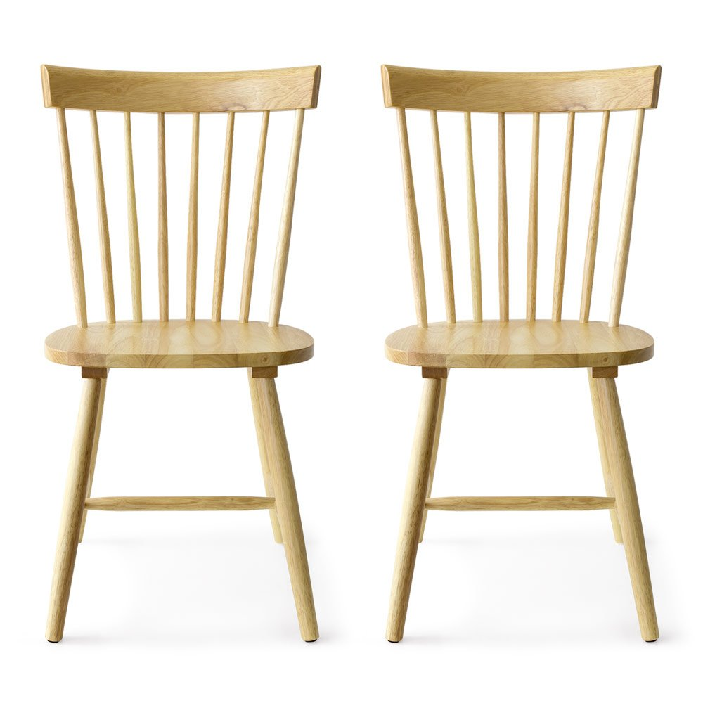 エアリゾーム ダイニングチェア 2脚セット おしゃれ 北欧 木製 イス 食卓椅子 Windsor Chair〔ウィンザーチェア〕 コムバック型 2脚セット販売 ナチュラル B06XXRQRS5 ナチュラル ナチュラル