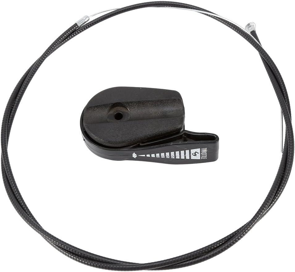 65 inch universal cortacésped del acelerador Cable Interruptor de control Jardín máquina Kit (Cable del acelerador palanca interruptor de control para cortacésped