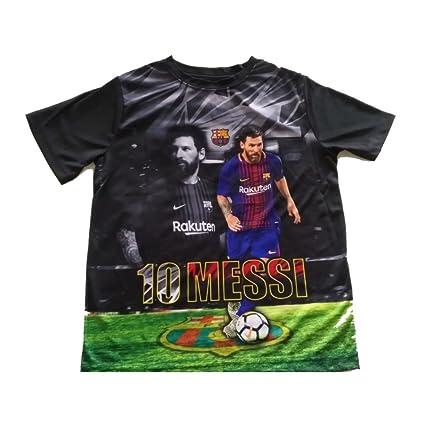 57a1e438fde Amazon.com   Barcelona - Black Lionel Messi T-Shirt (Youth)   Sports ...