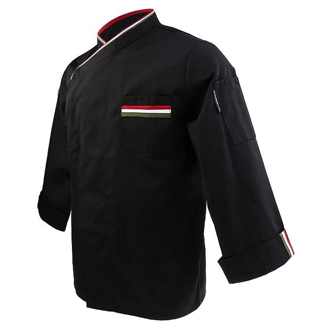 MagiDeal Donna Uomo Cuoco Giacca Cappotto Top Ristorazione Giacche da Chef  Uniforme Abbigliamento da Lavoro - 571606c9bd79