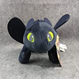 Naisidier 1pc How To Train Your Dragon Toothless Night Fury Plush Toy Soft Doll Kids Gift Dragon Plush With Embroidered Eyes Soft Stuffed Animals Toys (9in 23cm) Christmas Toy Gift