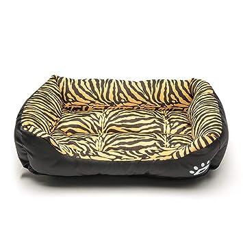 Mascota Cama Impermeable Kennel Tiger PatróN De Leopardo para Gatos Y PequeñOs Perros Medianos Puede Lavar
