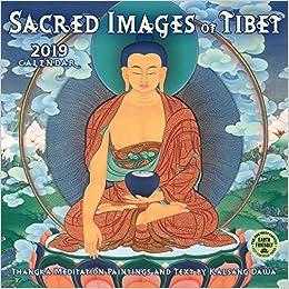 sacred images of tibet 2019 wall calendar thangka meditation paintings