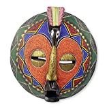 NOVICA 'Akoma Bird' African Beaded Mask
