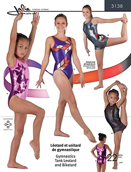 6ce701e0e Amazon.com  Jalie Gymnastics Leotard and Biketard Costume Sewing ...