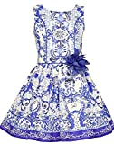 Bonnie Jean Big Little Porcelain Tile Print Sundress (8, Multi)