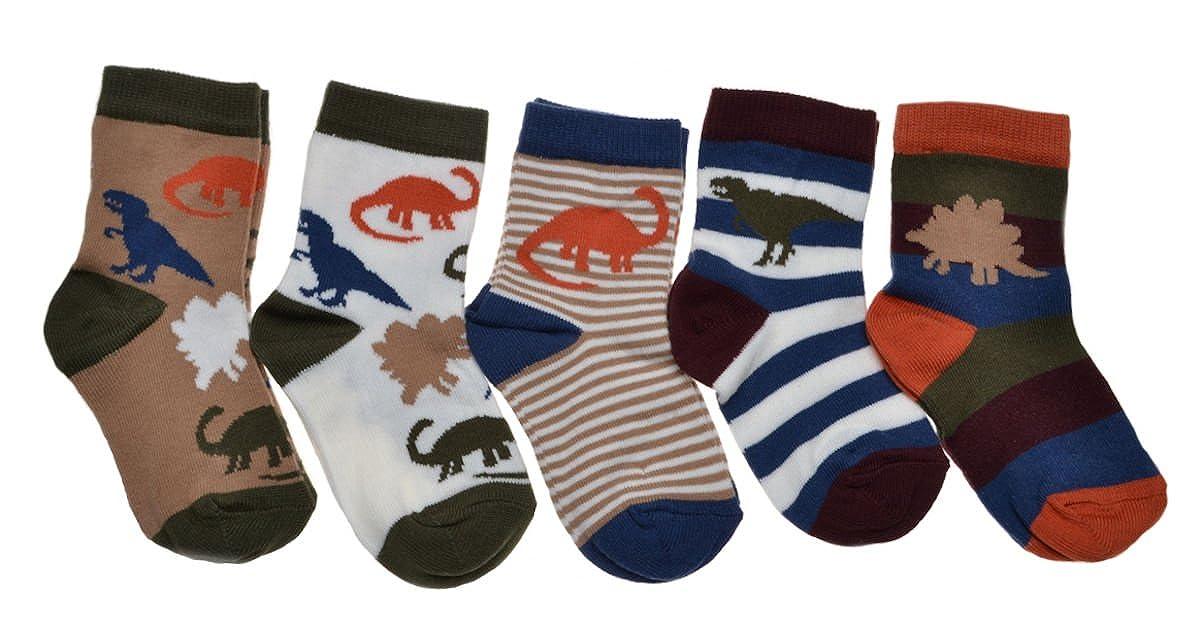 5 pairs of Children's Dinosaur socks
