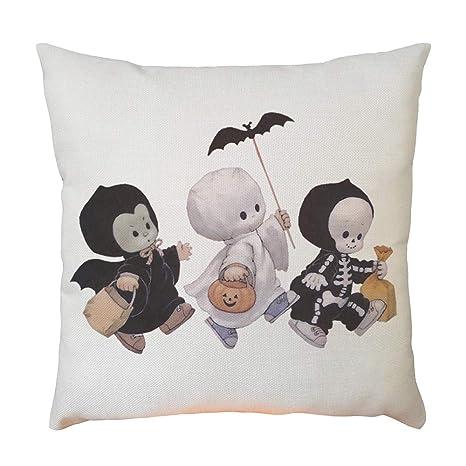 MAYOGO Funda Cojin Blanco 45x45 Estampado Halloween ...