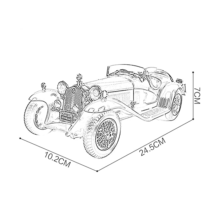 Amazon Com Jianping Model Car Alfa Romeo 118 Simulation Die