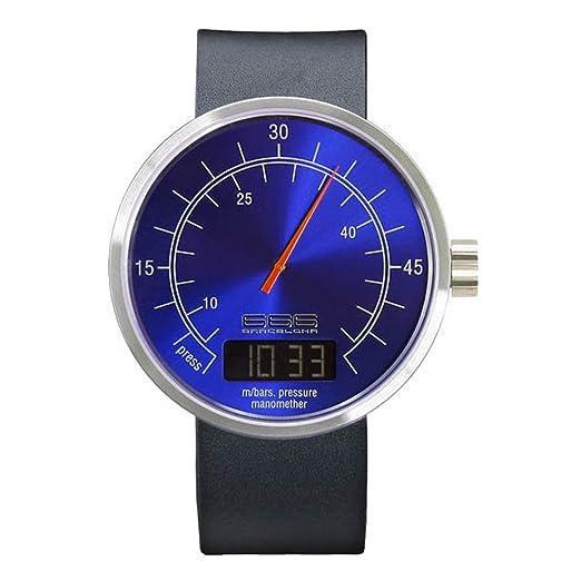 666-Barcelona 304 - Reloj , correa de piel de borrego color negro: Amazon.es: Relojes