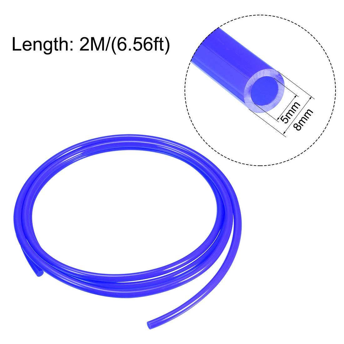 sourcing map Tubi flessibili pneumatici,Poliuretano PU Tubazione aria,2 metri Blu 4mm x 2.5mm,2M