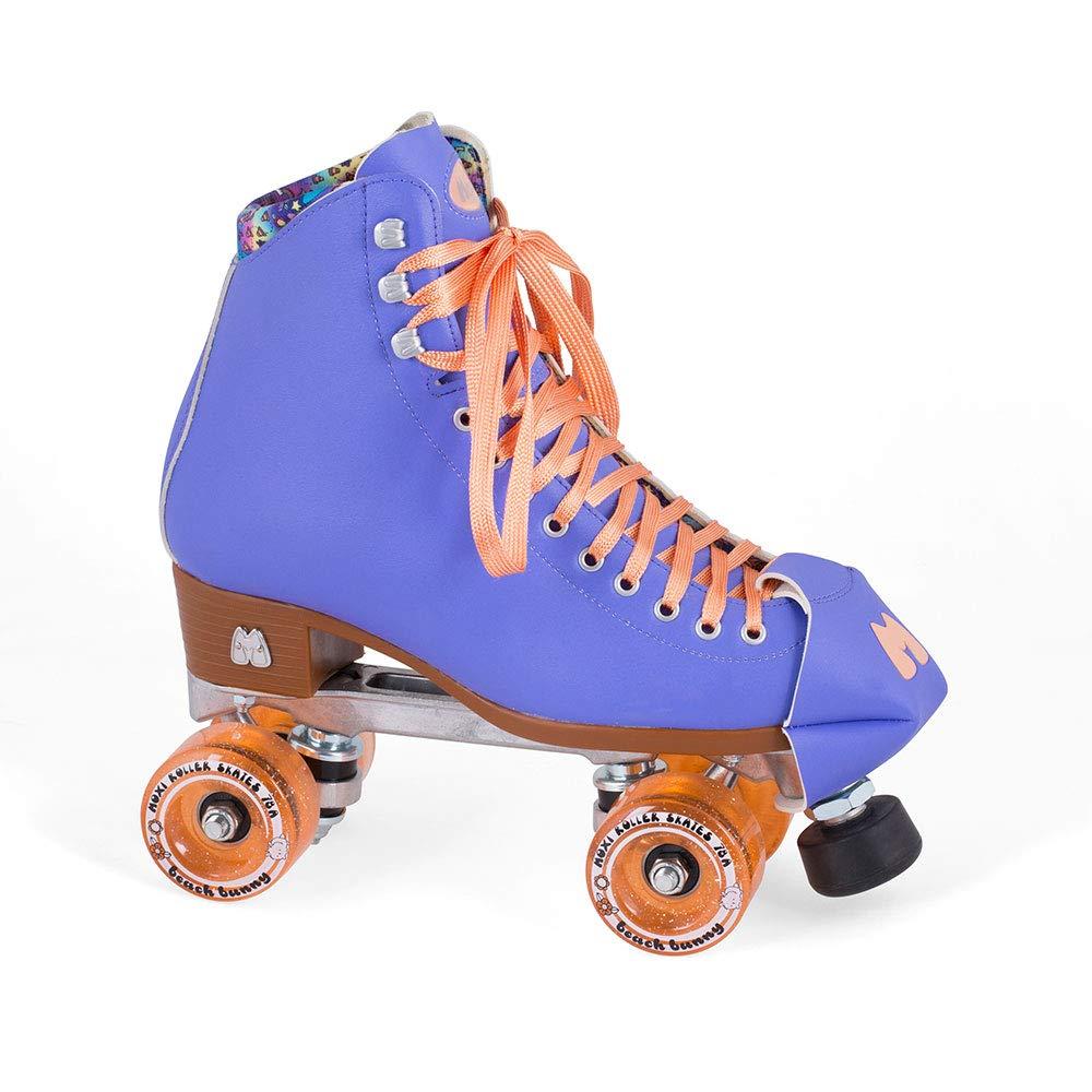 Moxi Skates - Beach Bunny - Fashionable Womens Roller Skates | Periwinkle Sunset | Size 6